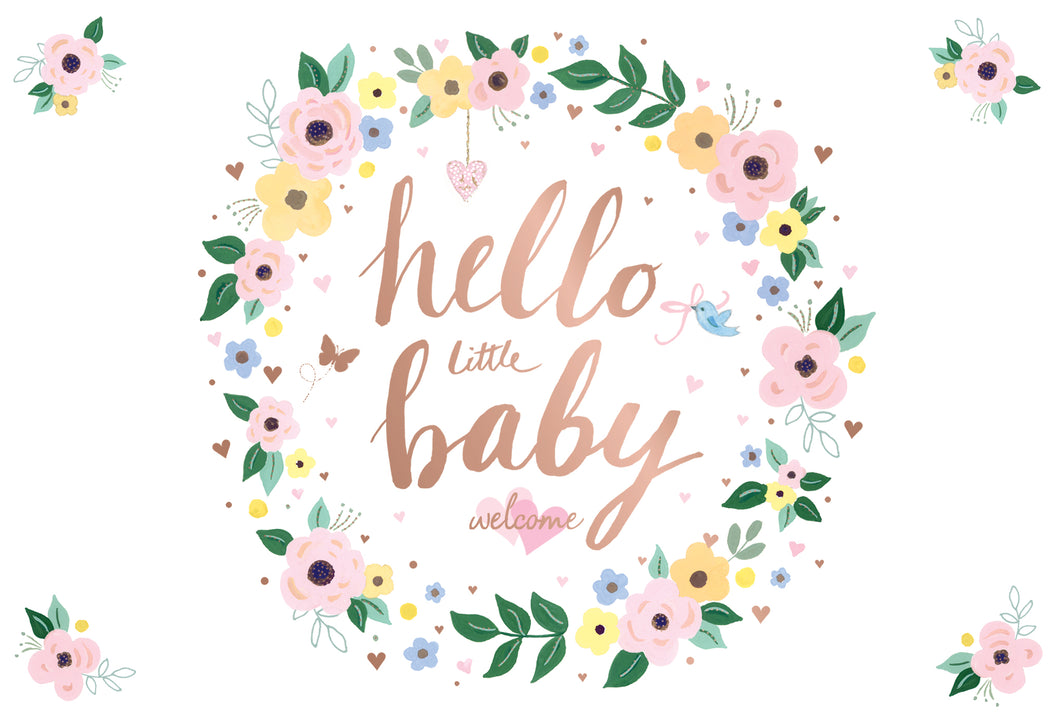 Baby Girl Card Hello little baby welcome