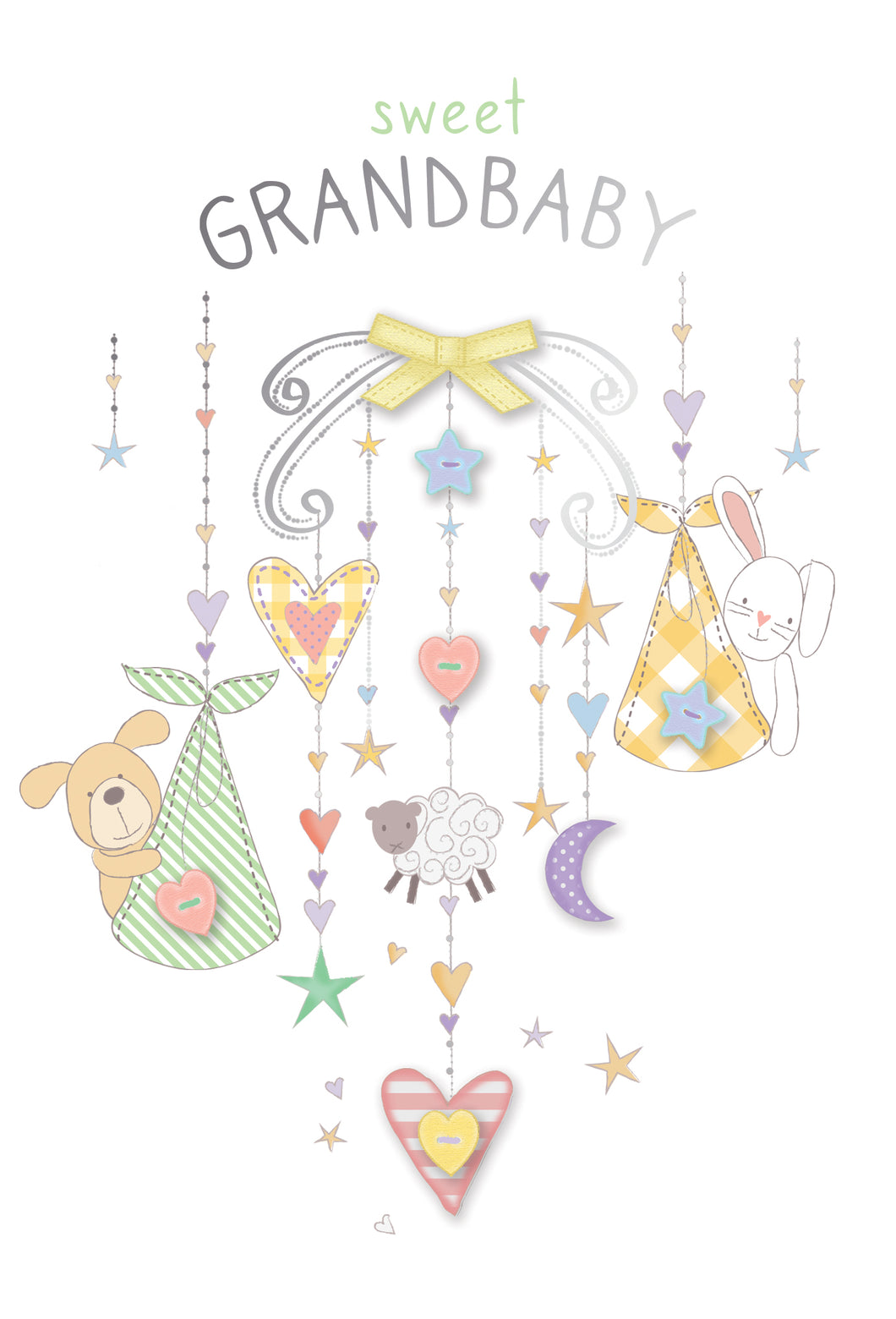 New Grandparent Card Animal Mobile