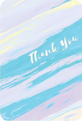 Thank You From Us Card Colorful Waves
