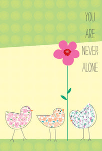 Friendship Card Never Alone