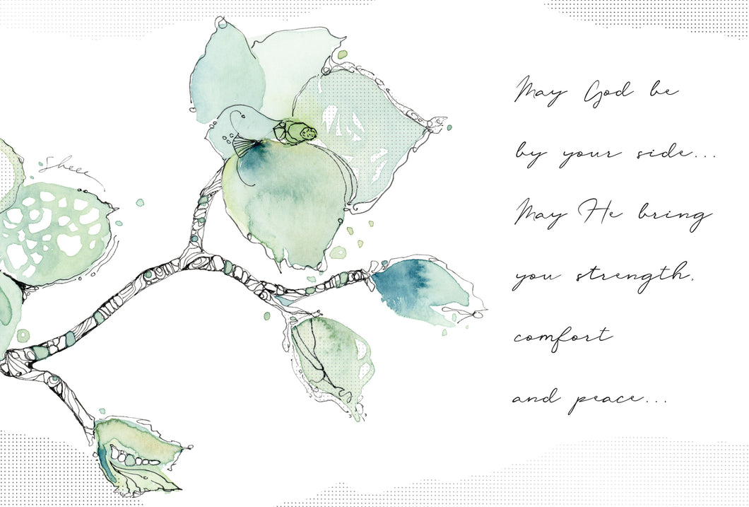 Sympathy Card Watercolor Branch