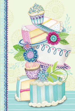 Cake Birthday Card Patchwork