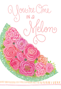 One in a Melon Thank You Card Sienna's Garden Nicole Tamarin