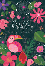 Pink Toucan Birthday Card