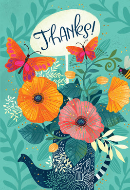 Flower Pitcher Thank You Card