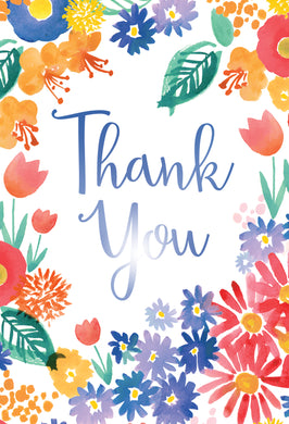 Spring Floral Thank You Card