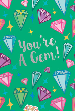 You're A Gem Thank You Card