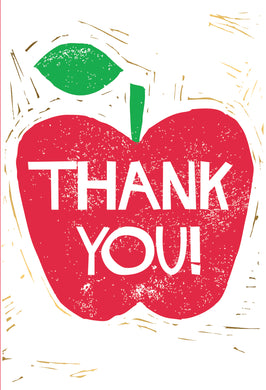 Red Apple Thank You Teacher Card