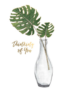 Tall Glass With Stems Thinking Of You Card