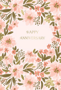 Bunches Of Flowers Anniversary Card