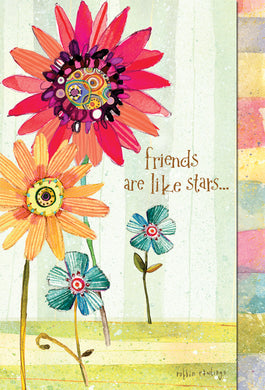 Friendship Card Friends are like stars