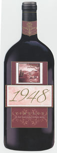 Vintage Year Birthday Wine Bottle Card 1948