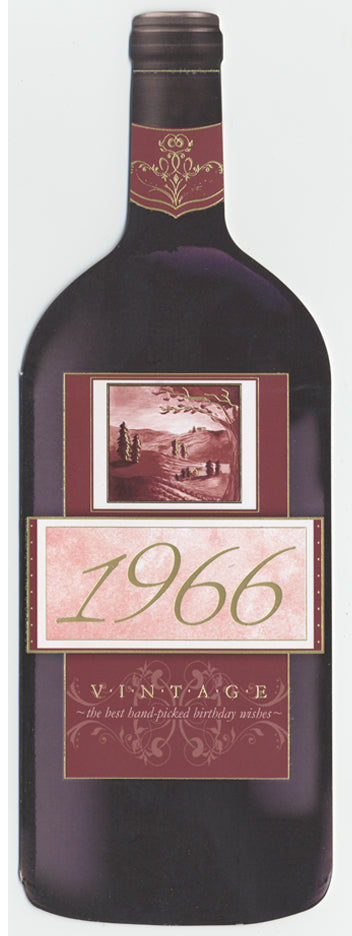 Vintage Year Birthday Wine Card 1966