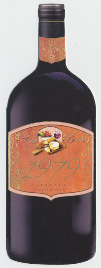 Vintage Year Birthday Wine Card 1979