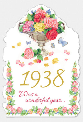 Year Of Birth Birthday Card 1938