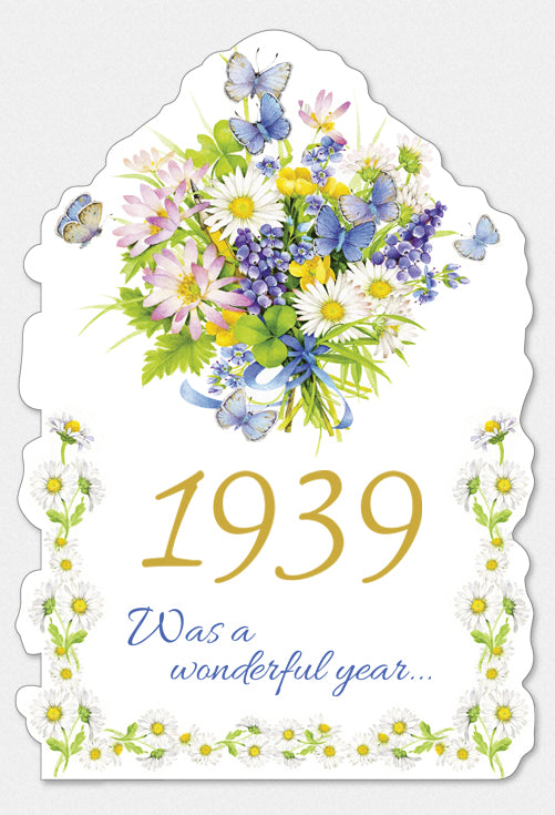 Year Of Birth Birthday Card 1939