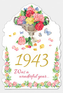 Year Of Birth Birthday Card 19343