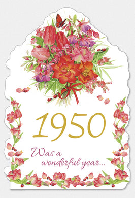 Year Of Birth Birthday Card 1950