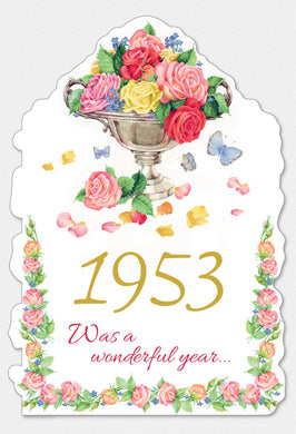 Year Of Birth Birthday Card 1953