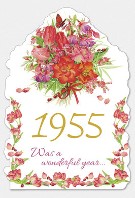 Year Of Birth Birthday Card 1955