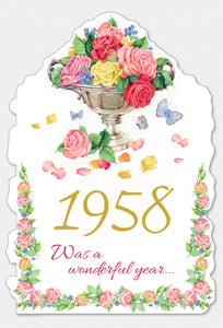 Year Of Birth Birthday Card 1958