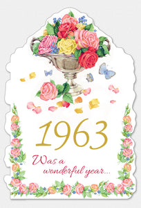 Year Of Birth Birthday Card 1963