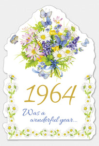 Year Of Birth Birthday Card 1964