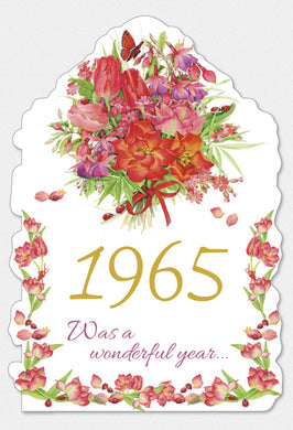 Year Of Birth Birthday Card 1965