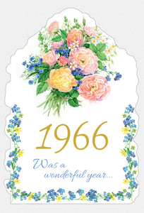 Year Of Birth Birthday Card 1966