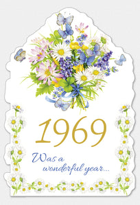 Year Of Birth Birthday Card 1969