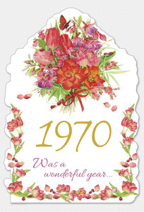 Year Of Birth Birthday Card 1970
