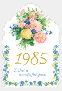 Year Of Birth Birthday Card 1985