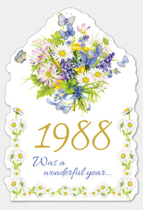 Year Of Birth Birthday Card 1988