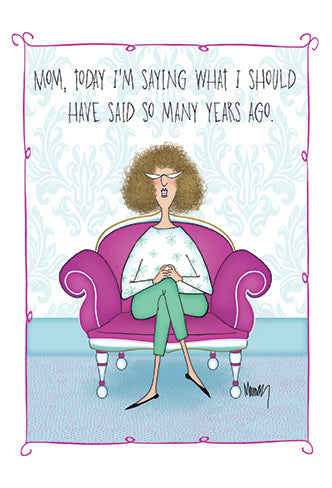 Funny Mother's Day Card Ponny Leslie Murray