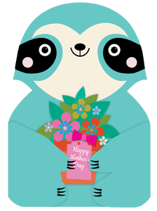 Mother's Day Card Sloth