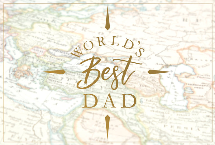 World's Best Dad Map Father's Day Card