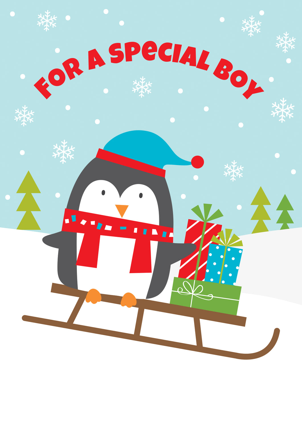 For a special boy - Christmas Card - Special Boy