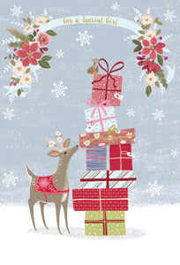 For a special girl - Christmas Card - Special Girl
