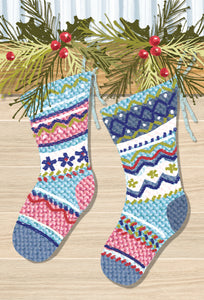 Two Christmas Stockings - Christmas Card - From us