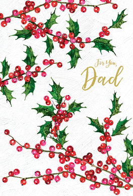 For you, Dad - Christmas Card - Father
