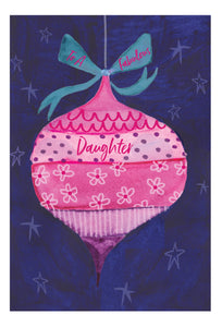 To a fabulous Daughter - Christmas Card - Daughter