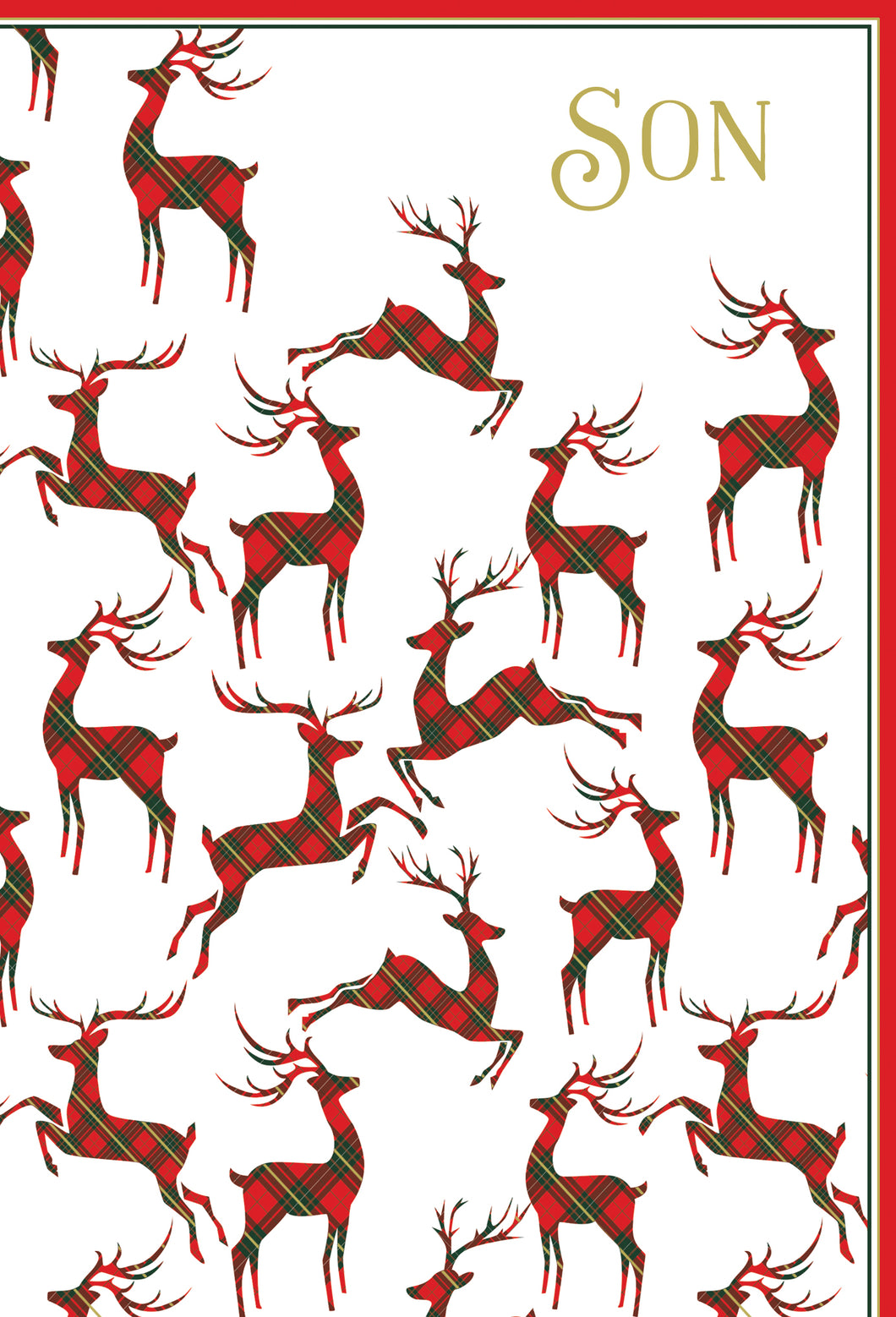 Reindeers - Christmas Card - Son
