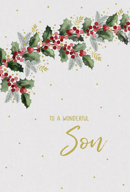 A wonderful Son - Christmas Card - Son
