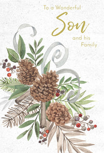 To a Wonderful Son and his Family - Christmas Card - Son & Wife