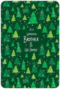 Brother & His Family - Christmas Card