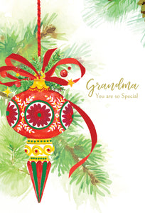Grandmother Christmas tree ornaments - Christmas Card