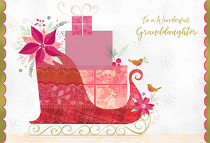 To a wonderful granddaughter - Christmas Card