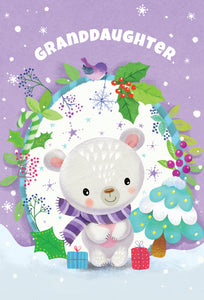 Granddaughter Bear - Christmas Card
