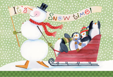 It's Snow Time! - Christmas Card