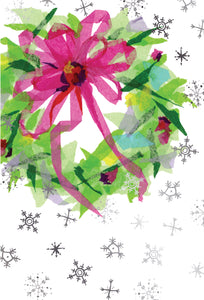 Christmas wreath and snow - Christmas Card